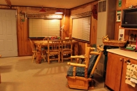 Old Cabin: Dining Room/Kitchen