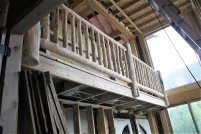 New Interior Lofts and Log Railing