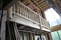 New Interior Lofts and Log Railing