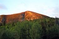 Sun Hitting Nearby Mountain