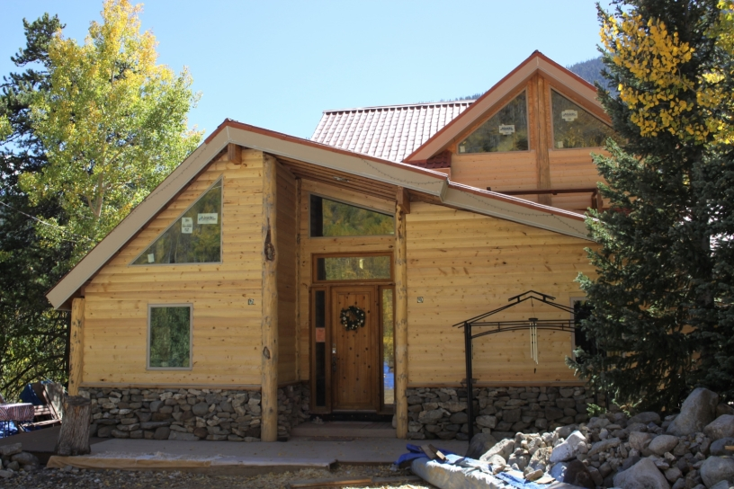 Front of Cabin as of September 2018