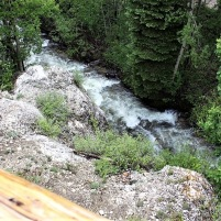 View of river from the cabin deck (June 2020).